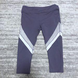 Fabletics Purple Cropped Leggings Size Medium
